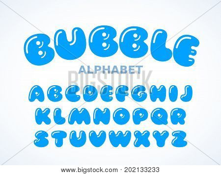 Vector bubble alphabet, Letters A-Z. Eps8. RGB Global colors