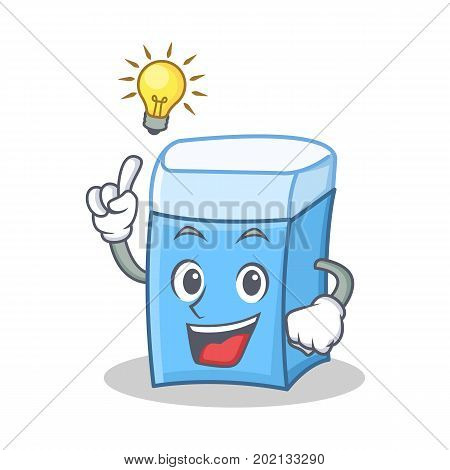 Have an idea eraser character mascot style vector illustration