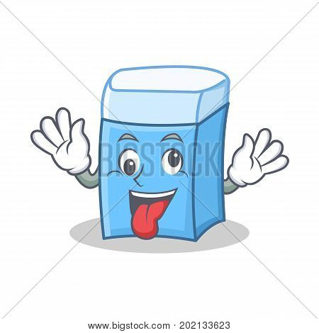 Crazy eraser character mascot style vector illustration