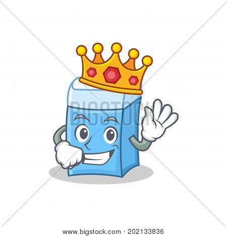 King eraser character mascot style vector illustration