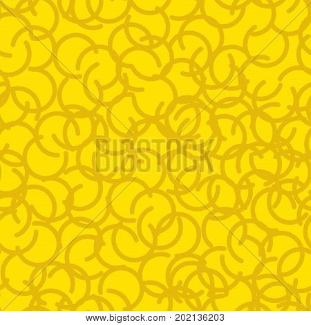 Golden fleece seamless pattern. Yellow fur ram texture