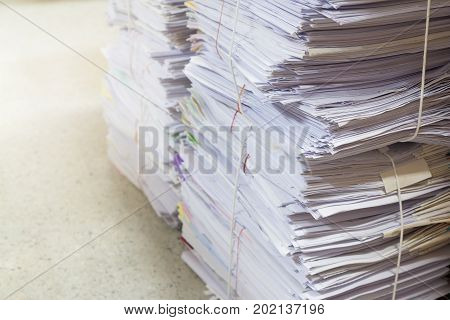 Stack Of Business Paper, Office Workload Paperwork