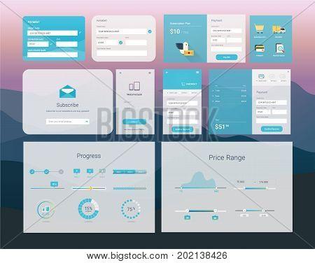 UI interface design vector flat and modern