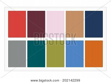 Fall Colors for 2017. Colors of the Year, Palette Fashion Colors. without Name. Vector Illustration