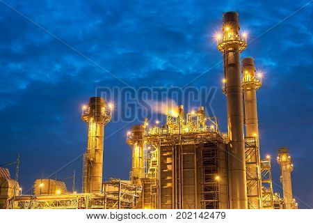 Oil refinery industryIndustrial view at oil refinery plant form industry zone.