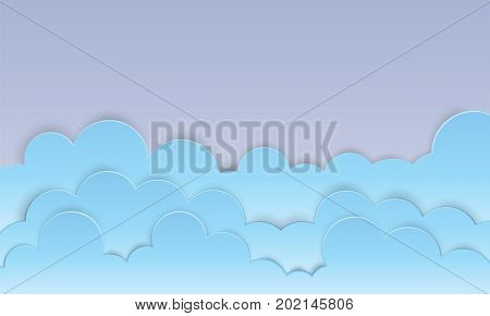 beautyful could sky on background paper art vector.
