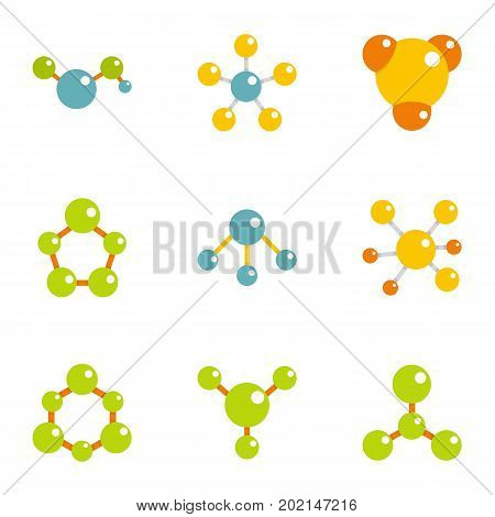 Compound icons set. Flat illustration of 9 compound vector icons for web design