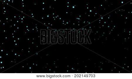 Stars On Black Night Background