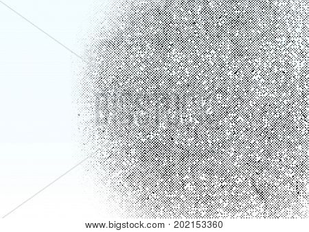 Grunge gradient dots vintage halftone ink background. Halftone gradient pattern made of dots with randomized circles. Pop art texture