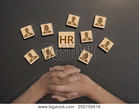 Human resourc select assessment personnel. concept HR and interview hiring.