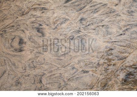 Wet Shore Sand Background Photo Texture