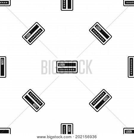 Login and password pattern repeat seamless in black color for any design. Vector geometric illustration