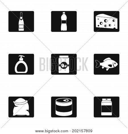 Dish icons set. Simple illustration of 9 dish vector icons for web design