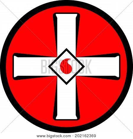 Emblem of the Ku Klux Klan. Vector illustration