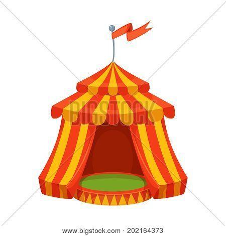 Colorful cartoon circus tent illustration. vector design