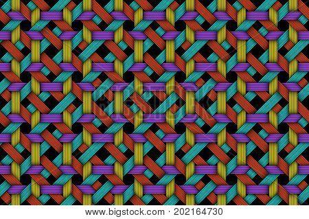 Vector Colored Matting Fiber Seamless Pattern
