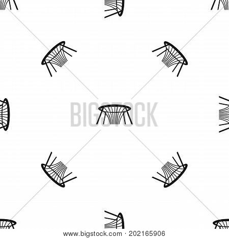 Fountain of Wealth in Singapore pattern repeat seamless in black color for any design. Vector geometric illustration