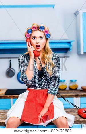Shocked Woman With Telephone