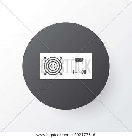 Premium Quality Isolated Power Generator Element In Trendy Style.  Power Supply Icon Symbol.