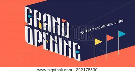 Grand opening vector backdrop for new store. Template design element for store opening event can be used as banner