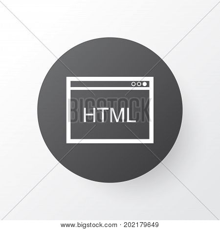 Premium Quality Isolated Coding Element In Trendy Style.  HTML Code Icon Symbol.