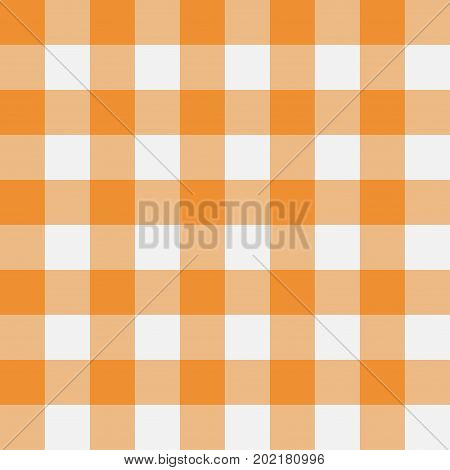 Orange Gingham seamless pattern. Texture from rhombus/squares for - plaid tablecloths clothes shirts dresses paper bedding blankets quilts and other textile products. Vector illustration.