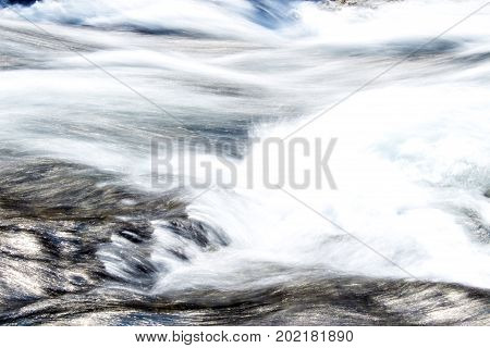 Rapid water stream of a river, Canada