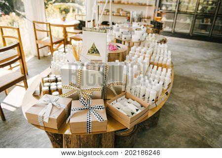 BANGKOK THAILAND - JANUARY 22 2017: The organic health care products in Pantom Store Bangkok Thailand