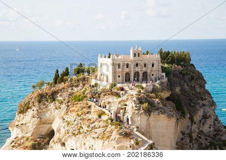 Santa Maria dell'Isola, tropea, tourism, cliff, temple