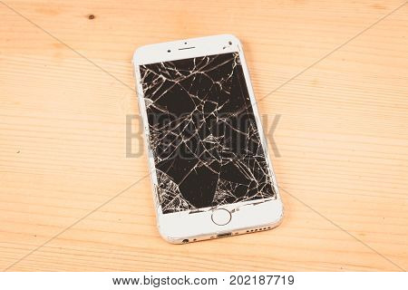 Broken Iphone 6S Developed By The Company Apple Inc