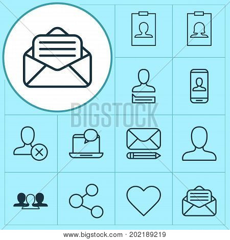 Network Icons Set. Collection Of Mail, Group, Publication And Other Elements