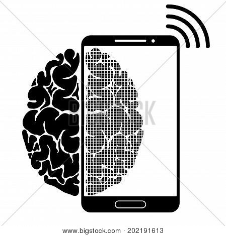 A Conceptual Sign Or Logo Showing A Person S Dependence On A Smartphone, Gadget Or The Internet. Str
