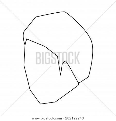 man head faceless with short hairstyle sketch silhouette in white background vector illustration