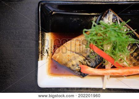 Japanese Saba Grill With Sweet Sauce Teriyaki