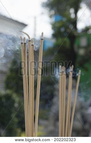 Joss Sticks And Smoke
