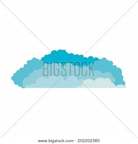 clouds cumulus blue and white background vector illustration