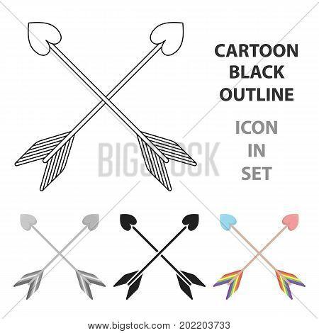 Arrow icon cartoon. Single gay icon from the big minority, homosexual cartoon.