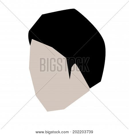 man head faceless with short hairstyle in white background vector illustration