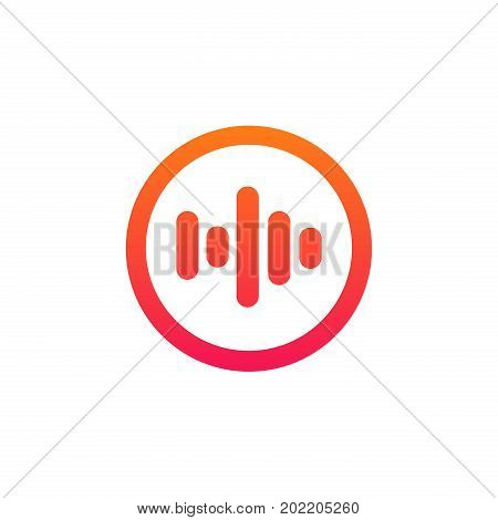 Isolated Voice Sign Volume Icon Equalizer Logotype Vector Design