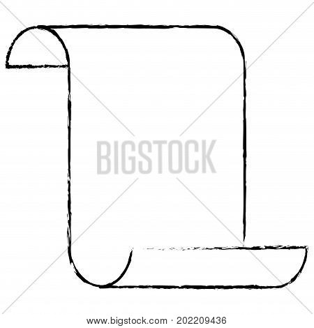 sheet continuously silhouette blurred monochrome vector illustration