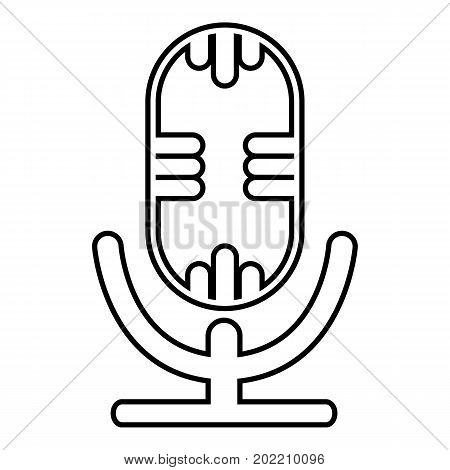 Studio microphone icon. Outline illustration of studio microphone vector icon for web design isolated on white background