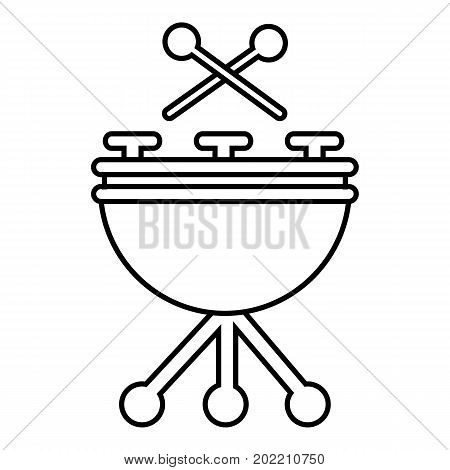 Drums icon. Outline illustration of drums vector icon for web design isolated on white background