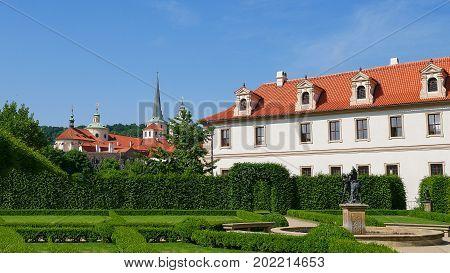 Valdstejn garden. Prague, Czech Republic Hradcany Mala Strana