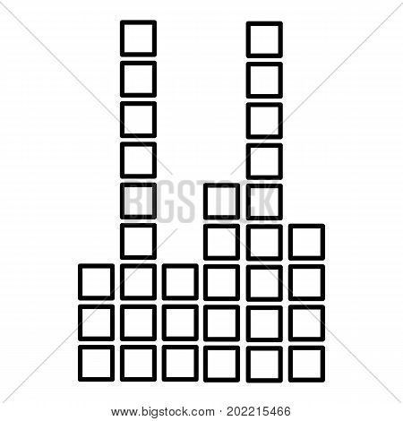 Equalizer icon. Outline illustration of equalizer vector icon for web design isolated on white background