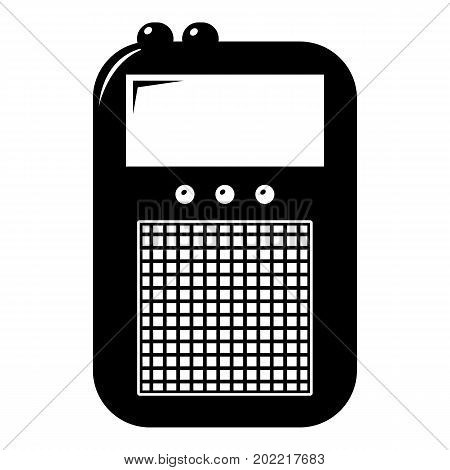 Portable radio icon . Simple illustration of portable radio vector icon for web design isolated on white background