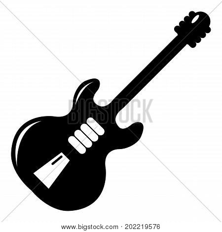 Electric guitar icon . Simple illustration of electric guitar vector icon for web design isolated on white background