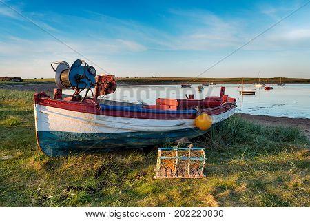 Fishing Boat At Holy Island