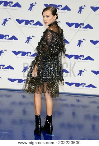 Millie Bobby Brown at the 2017 MTV Video Music Awards held at the Forum in Inglewood, USA on August 27, 2017.
