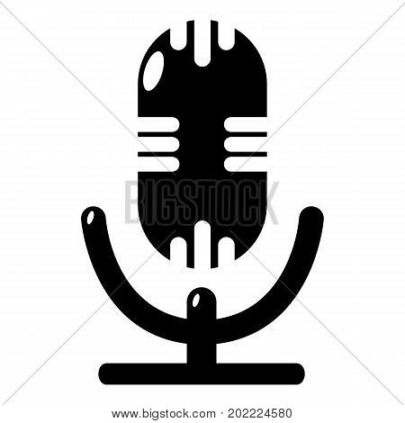 Studio microphone icon . Simple illustration of studio microphone vector icon for web design isolated on white background