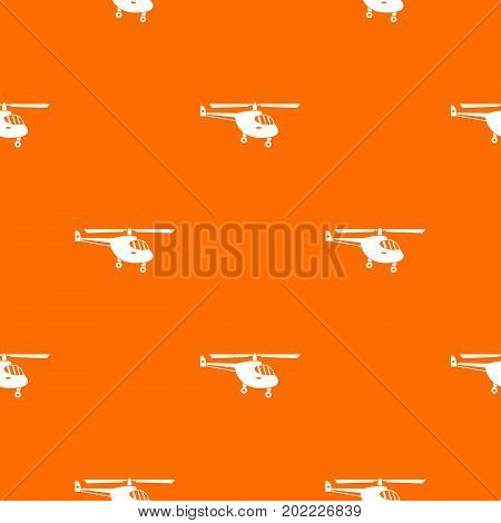 Helicopter pattern repeat seamless in orange color for any design. Vector geometric illustration poster